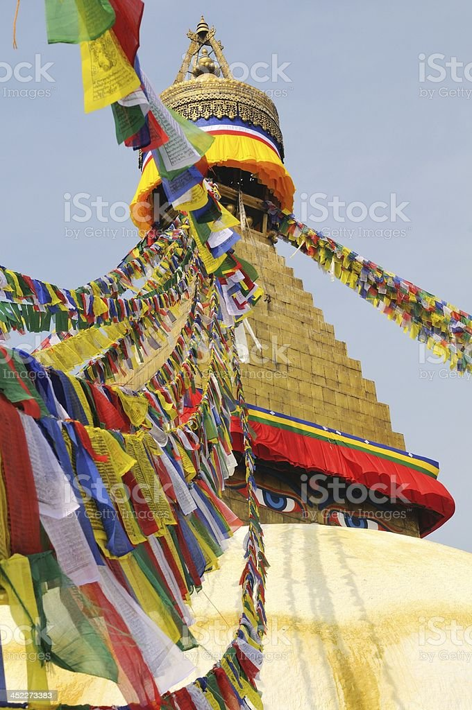 Bodnath Stupa, Kathmandu Nepal royalty-free stock photo