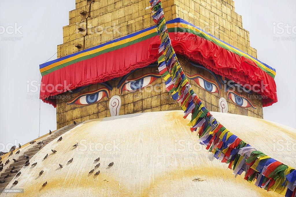 Bodnath Stupa, Nepal stock photo