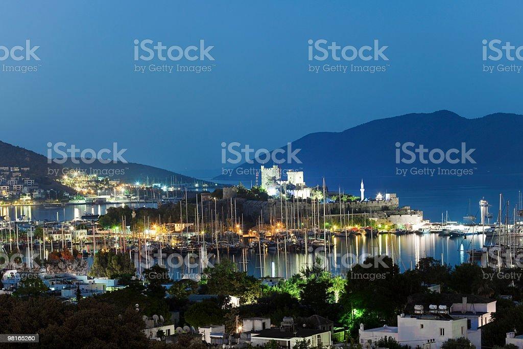Castello di Bodrum e Harbour foto stock royalty-free
