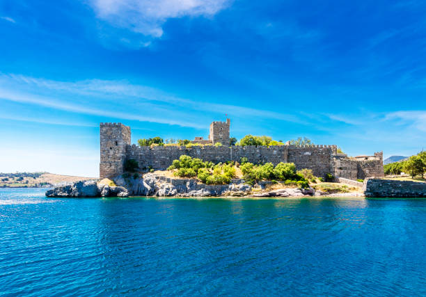 Bodrum Castle in Turkey stock photo