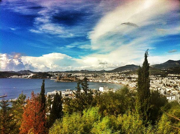 bodrum general view stock photo