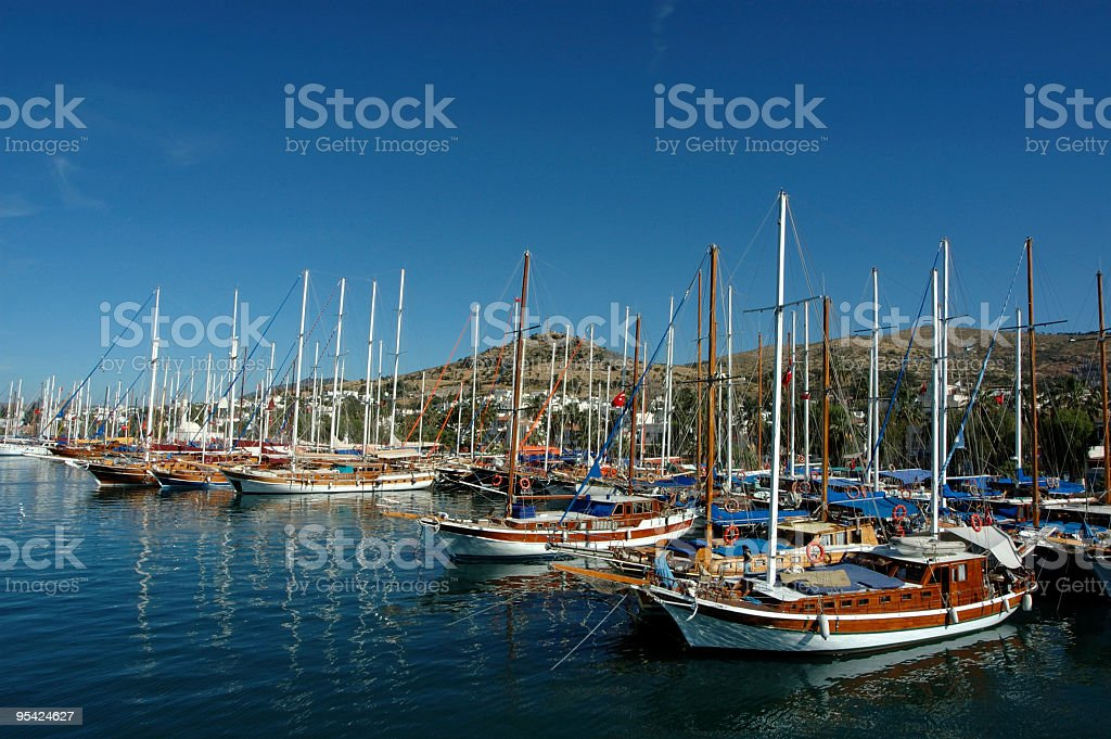 Bodrum Harbour royalty-free stock photo