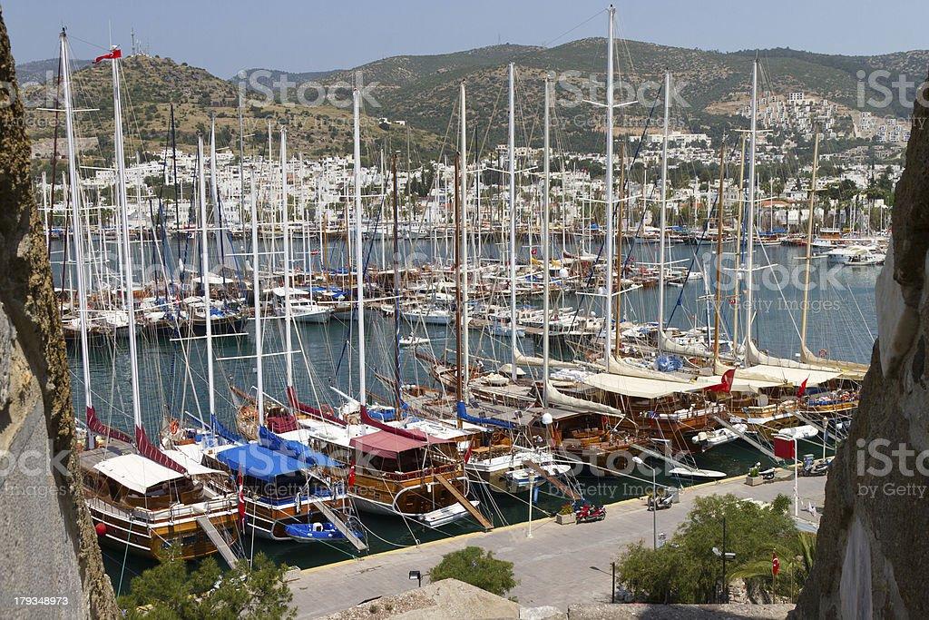 Bodrum Marina royalty-free stock photo