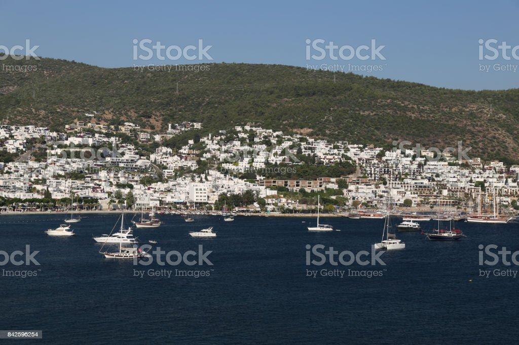 Bodrum Town in Aegean Coast of Turkey stock photo