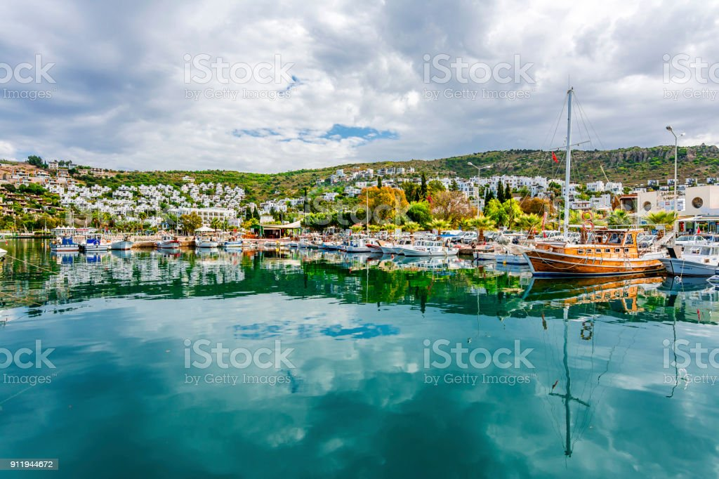 Bodrum Town of Turkey stock photo