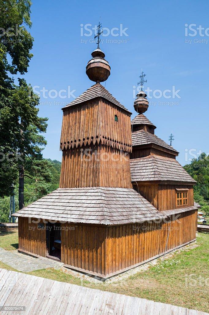 Bodruzal, Slovakia. St. Nikolas Church foto de stock royalty-free