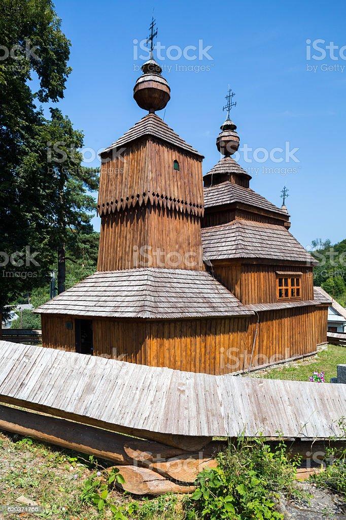 Bodruzal, Slovakia. St. Nikolas Church zbiór zdjęć royalty-free