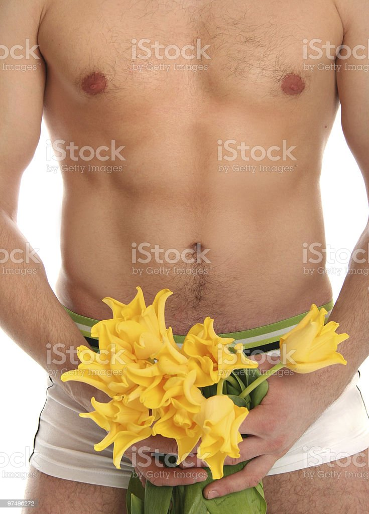 body and flowers royalty-free stock photo