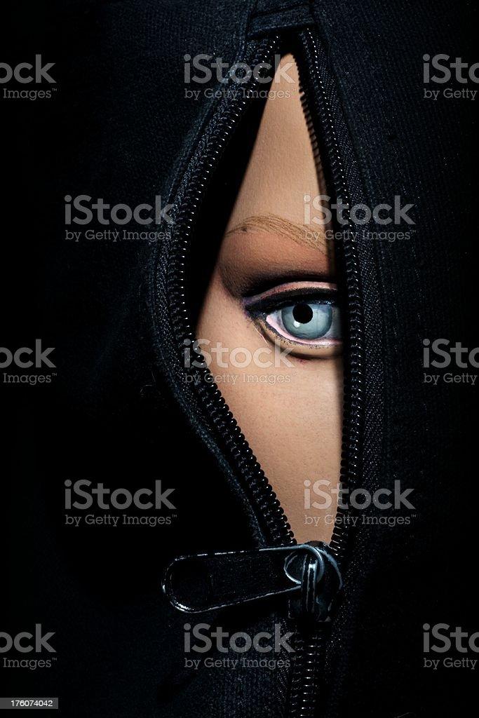 Body Bag Eye stock photo