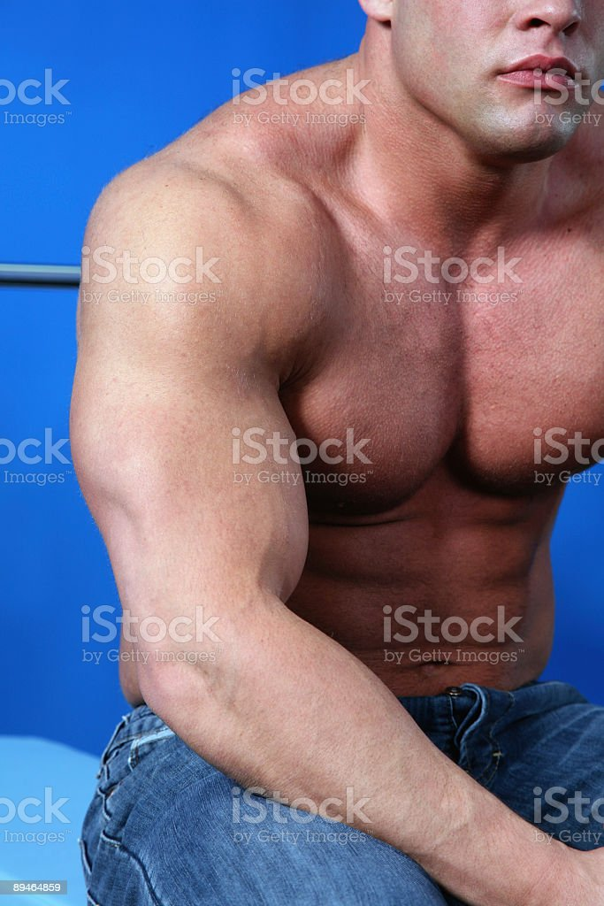 Body builder details royalty-free stock photo