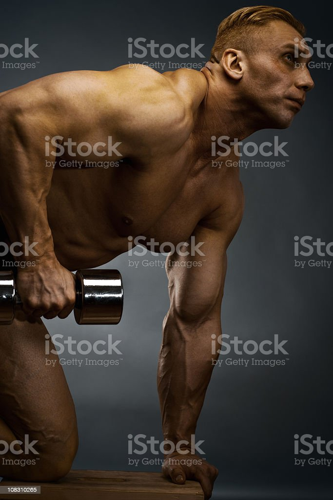 Body Builder Exercising royalty-free stock photo