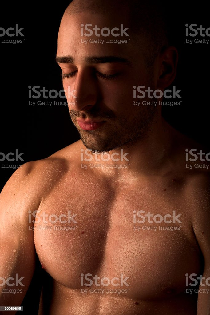 Body builder royalty-free stock photo