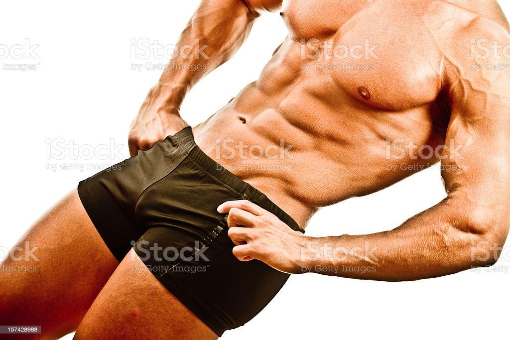 Body Builder Posing royalty-free stock photo
