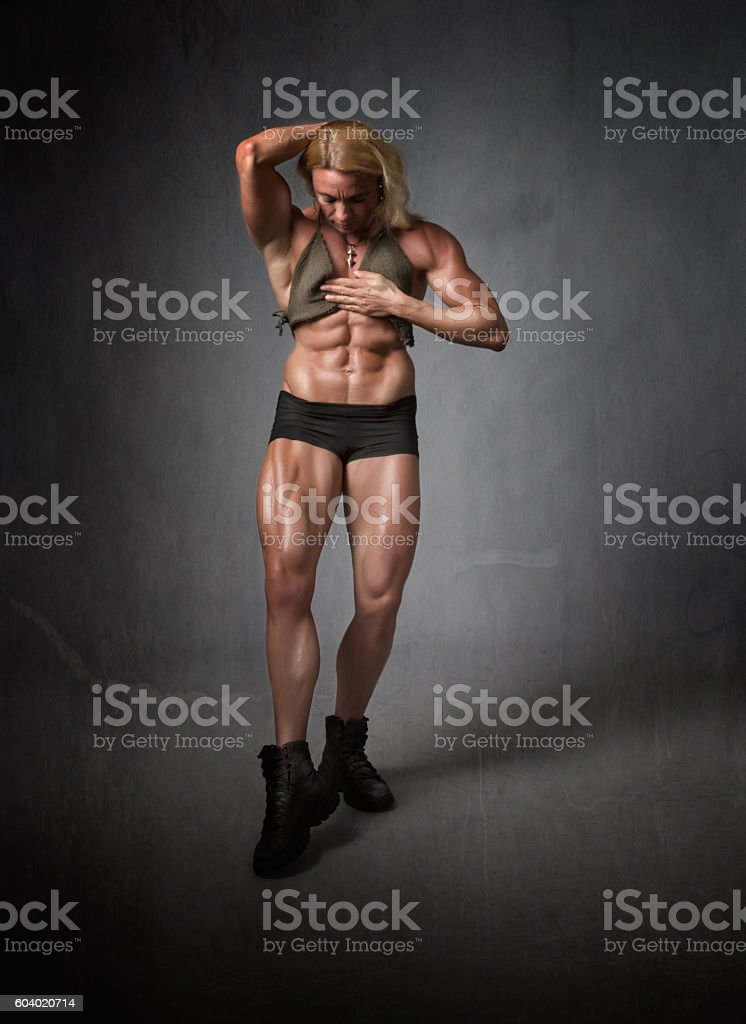 body building abdomen figure stock photo