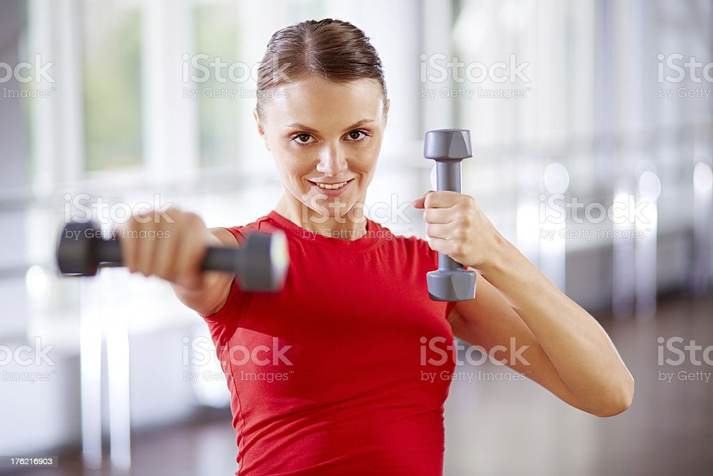 Body building exercise royalty-free stock photo