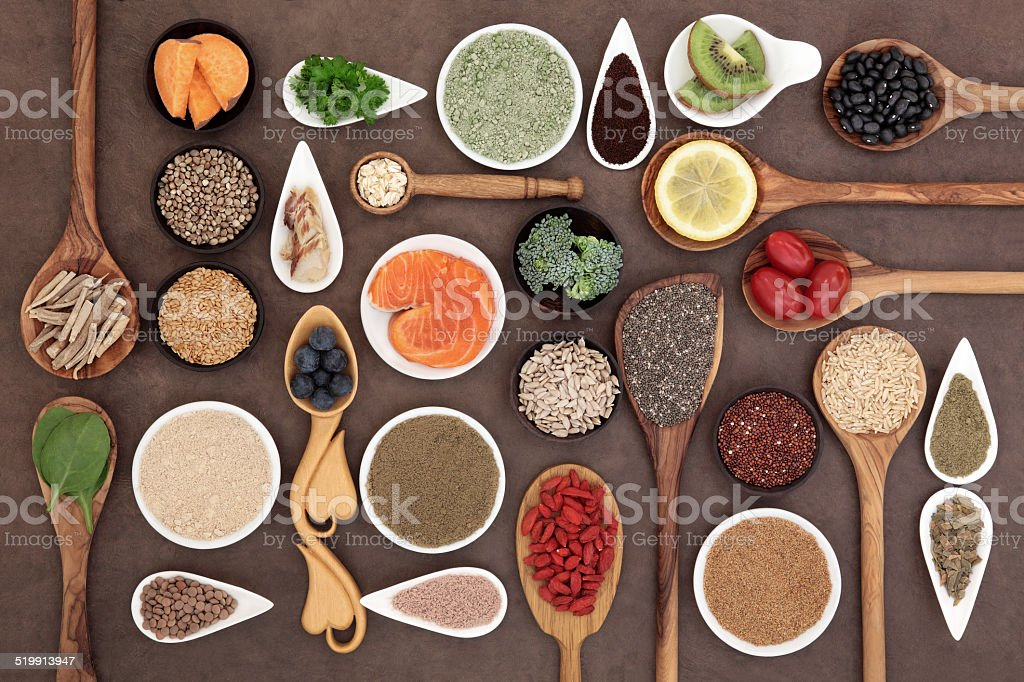 Body Building Super Food stock photo