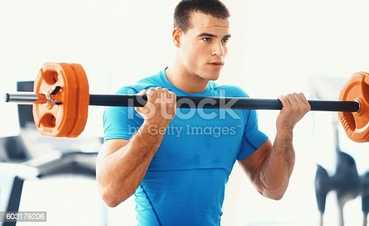610237160istockphoto Body building workout. 603176206