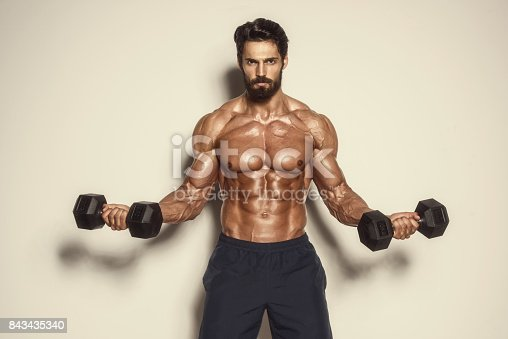 istock Body Building Workout 843435340