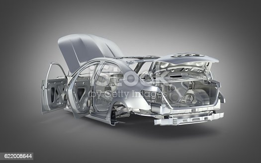 istock body car with no wheel on grey gradient background 3d 622008644