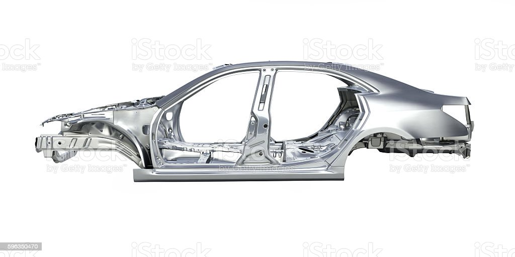 body car without a shadow on white background 3d royalty-free stock photo