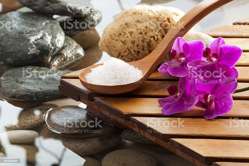 body care and aromatherapy still-life stock photo