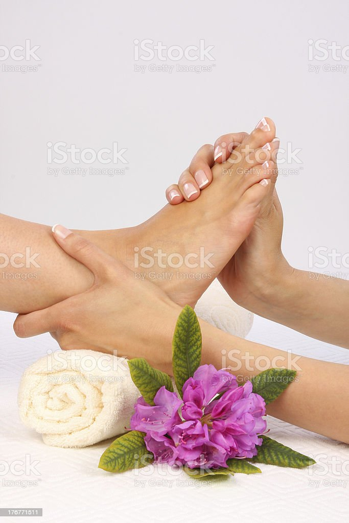 Body Care - Feet massage stock photo