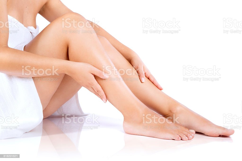 body care: legs stock photo