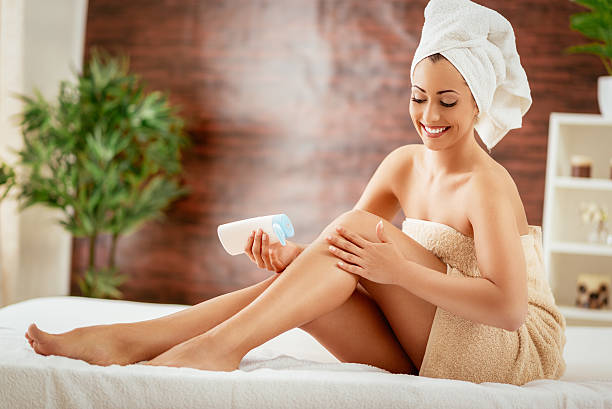 body care - human leg stock photos and pictures
