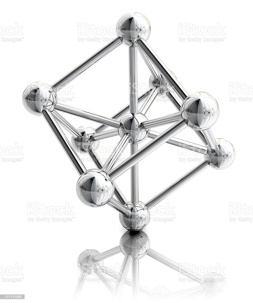 Body Centered Cubic Lattice royalty-free stock photo