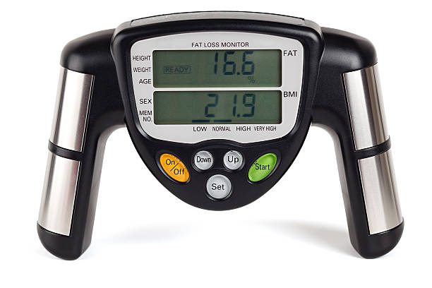 Body fat loss monitor (clipping path) stock photo