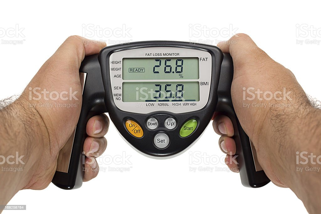 Body fat loss monitor stock photo