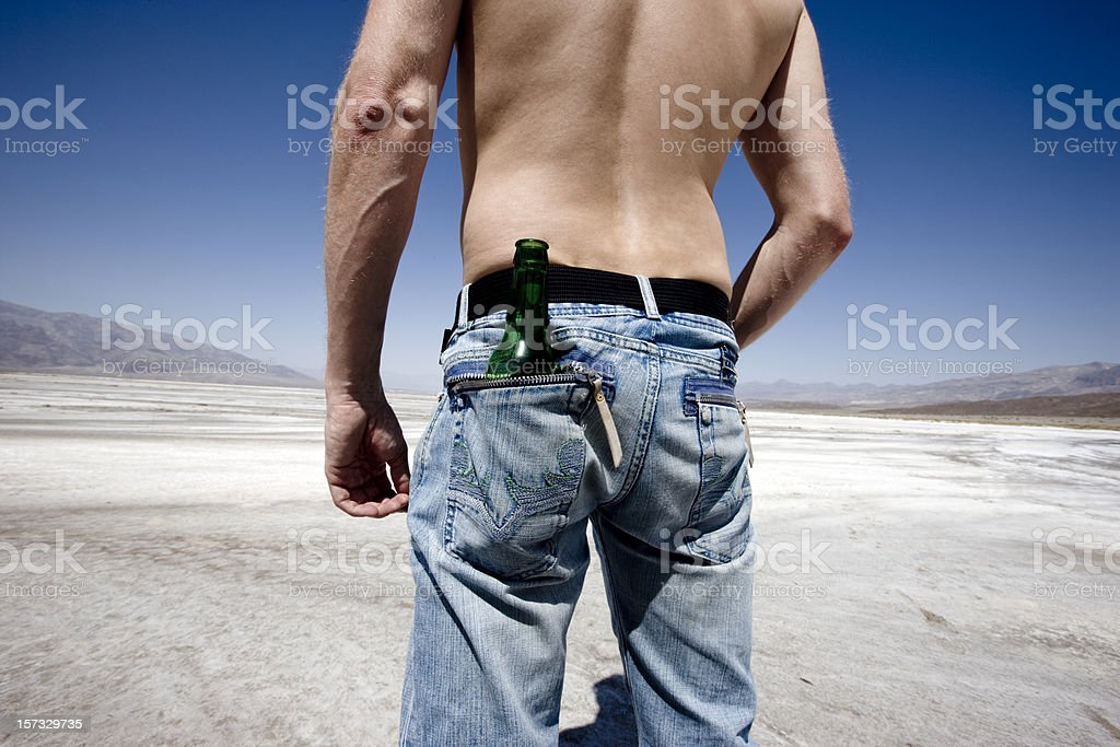 Body, Jeans, Thirst and the Death Valley royalty-free stock photo