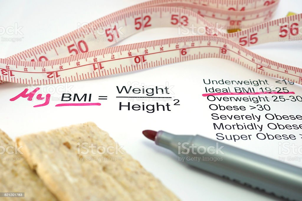 Body mass index BMI stock photo