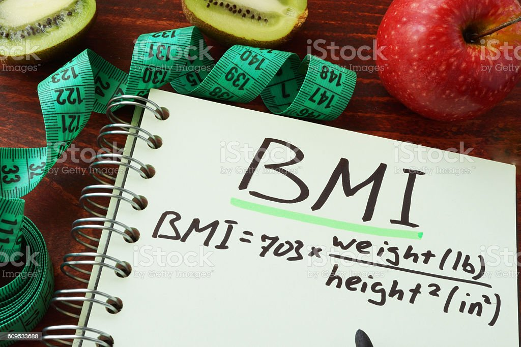 BMI body mass index stock photo