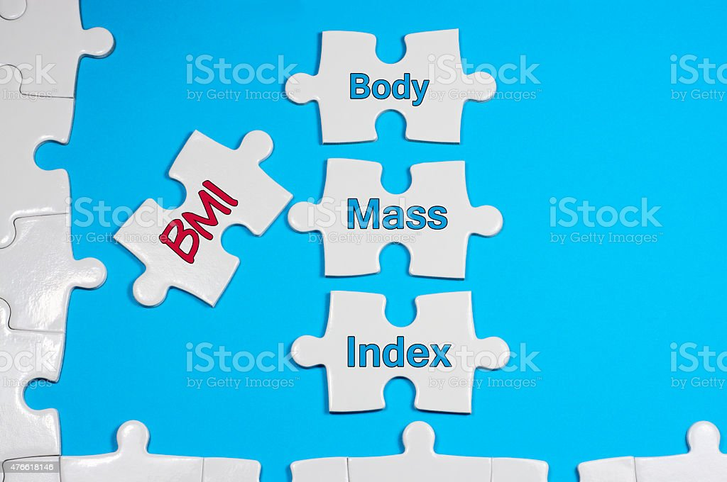 Body Mass Index Text - Health Concept stock photo