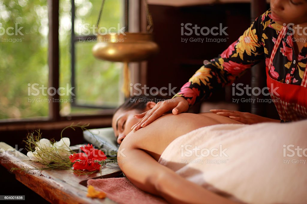 Body Massage stock photo