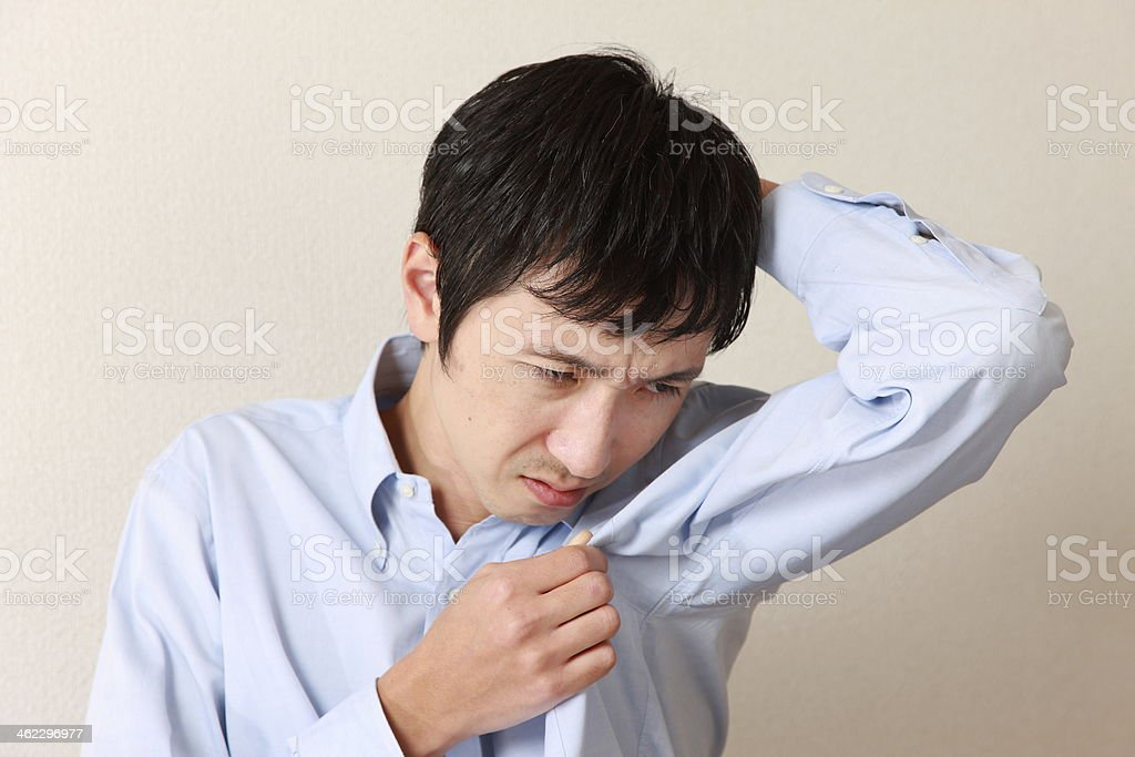 body odor stock photo