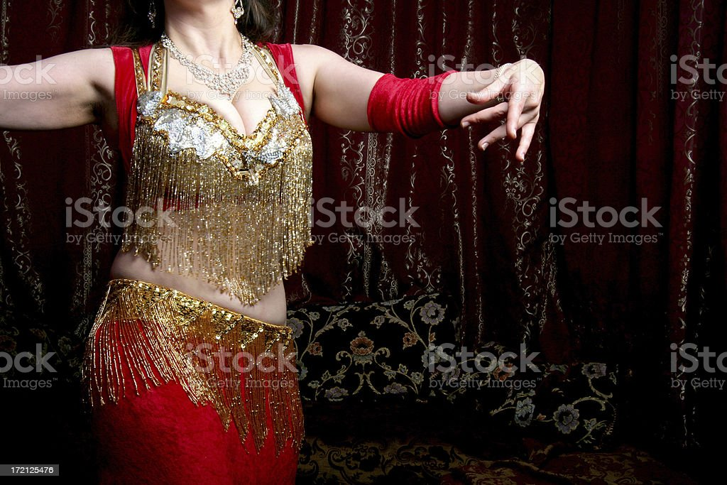 body of belly dancer royalty-free stock photo