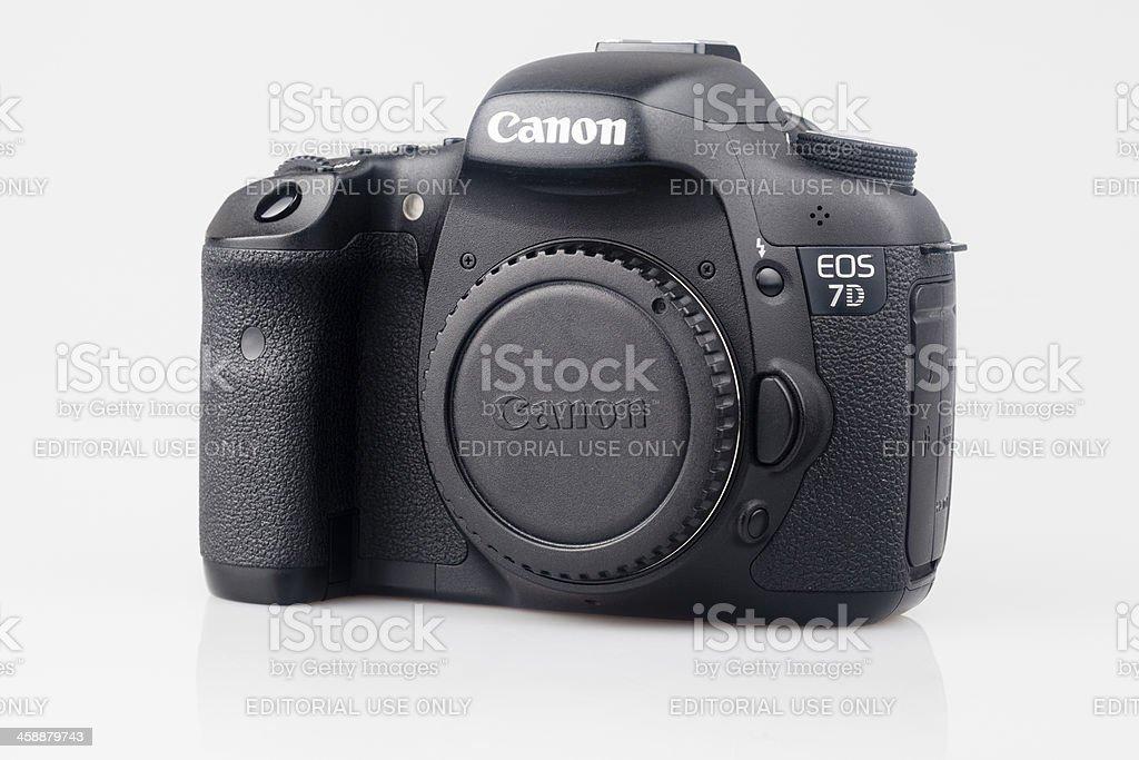 Body of Canon EOS 7D royalty-free stock photo