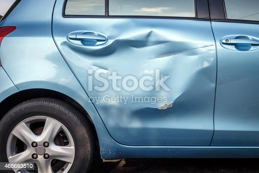istock Body of car get damage by accident 465663510