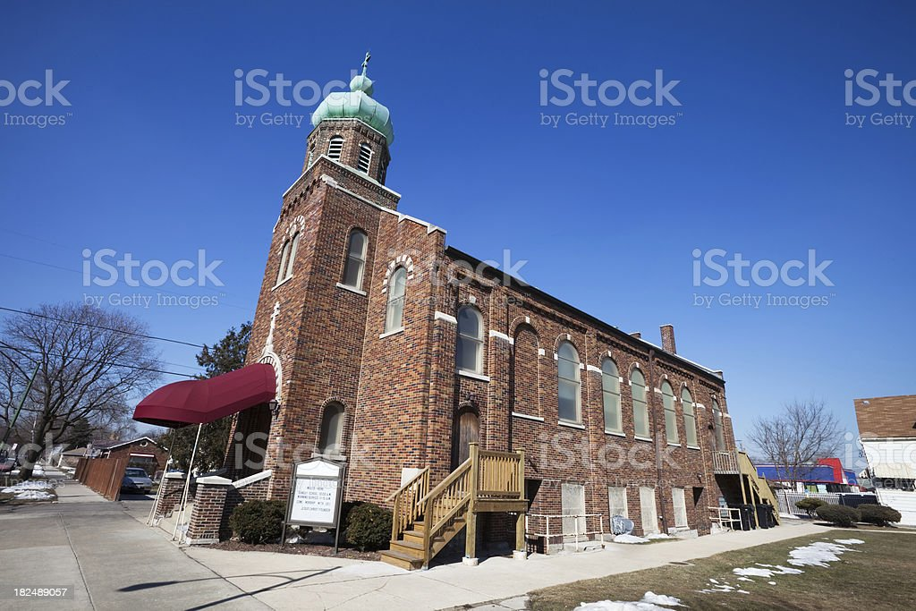Body of Christ Church in Gage Park, Chicago royalty-free stock photo
