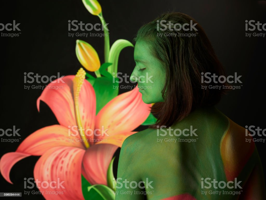 Body paint royalty-free stock photo