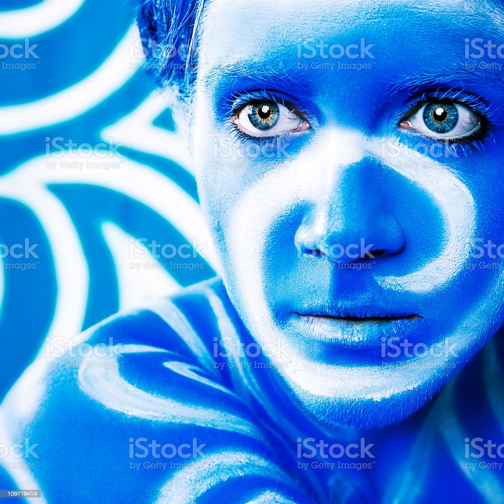 Body Paint: Swirl Camouflage stock photo