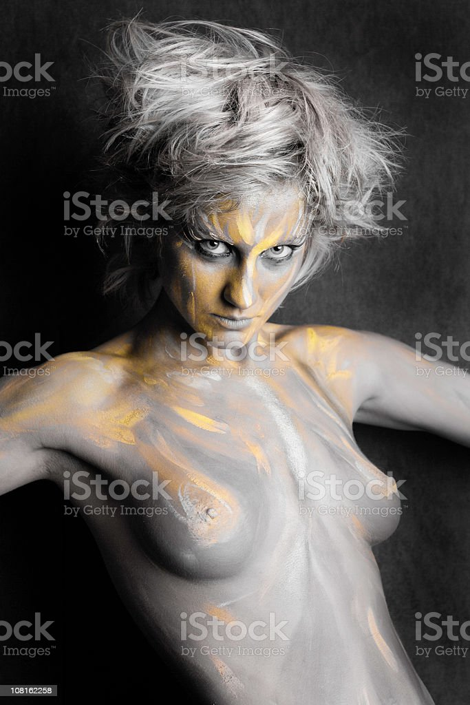 Body Painted Woman royalty-free stock photo