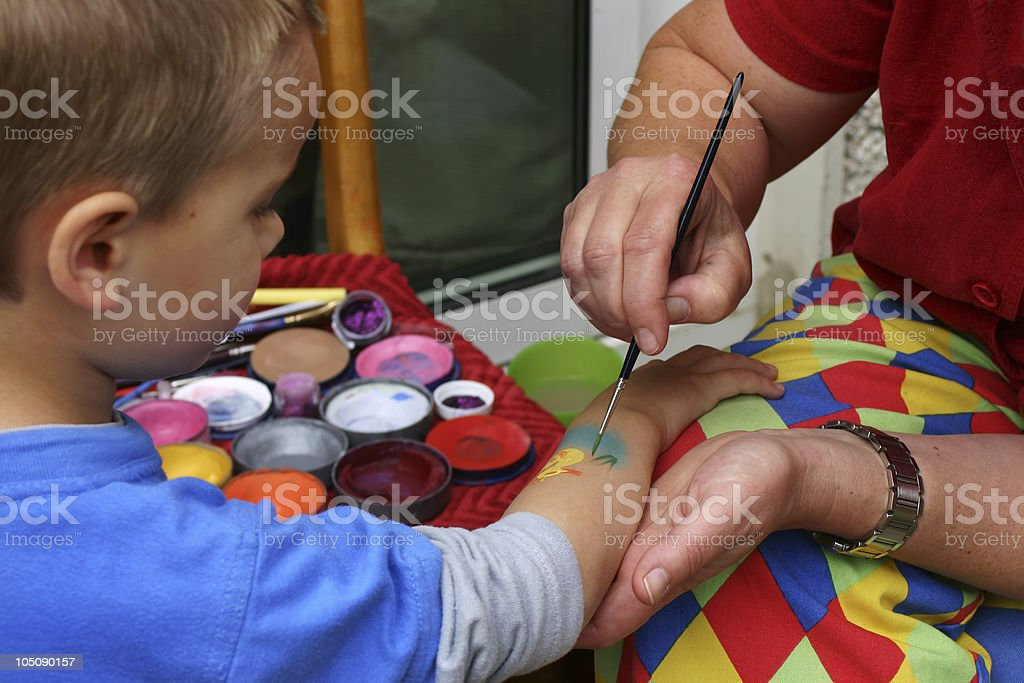 Body painting royalty-free stock photo