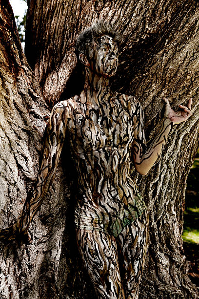 Body Painting Tree Camouflage Stock Photo Download Image Now Istock