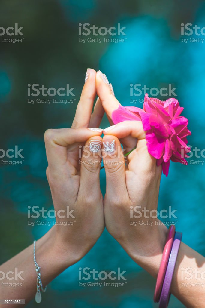 body parts in yoga position stock photo