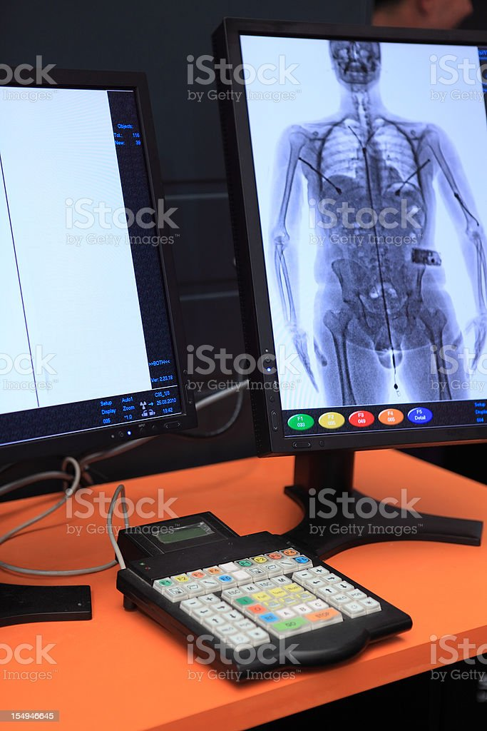 Body Scanner royalty-free stock photo