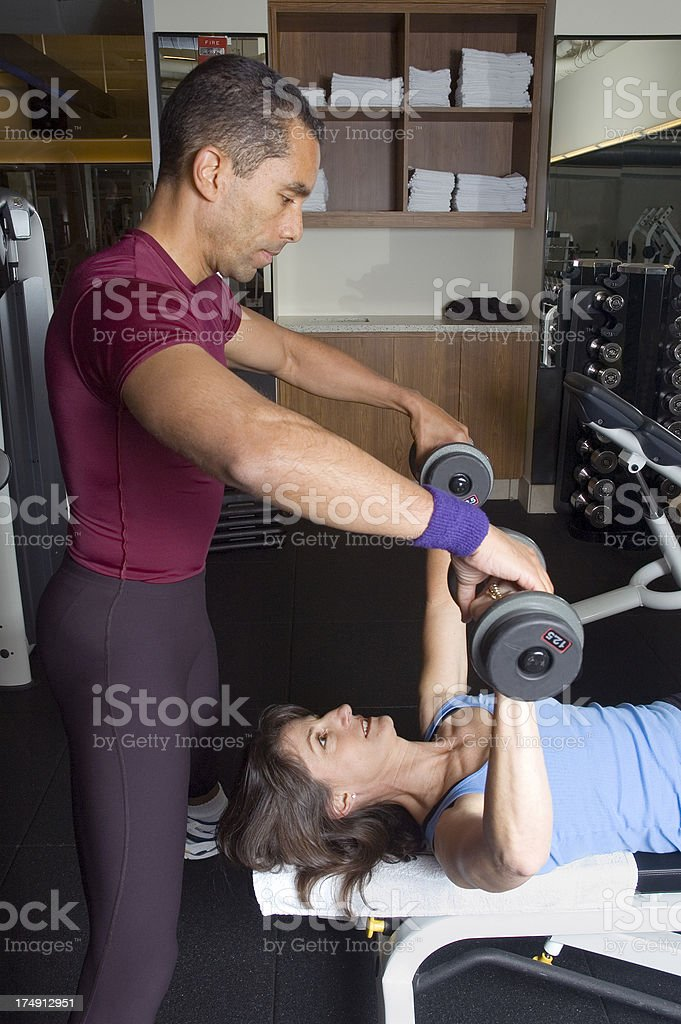 Body Sculpting With Trainer royalty-free stock photo