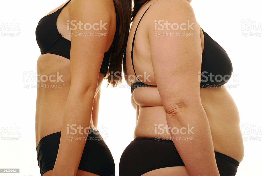 Body shape contrasts royalty-free stock photo